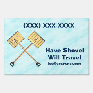 Snow Shoveling Business Sign