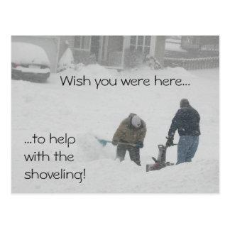 Snow Shoveling postcard