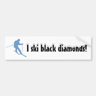 Snow Ski Bumper Sticker