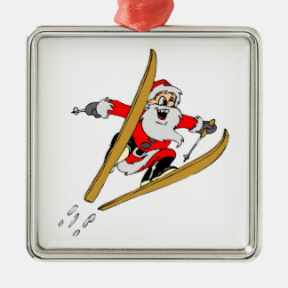 Snow Skiing Metal Ornament