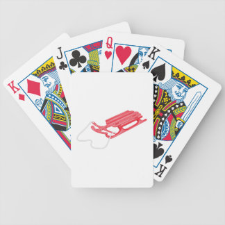 Snow Sled Bicycle Playing Cards