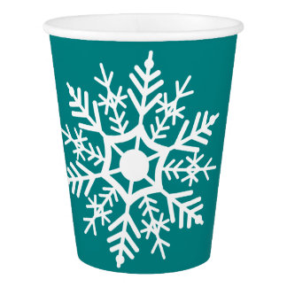 Snow Star - Christmas - Paper Cup