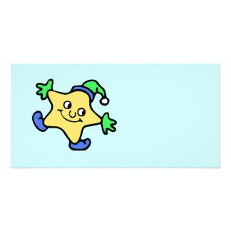 Snow Star Customized Photo Card
