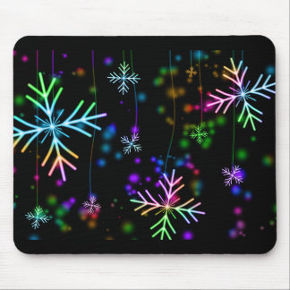 Snow Star Mouse Pad