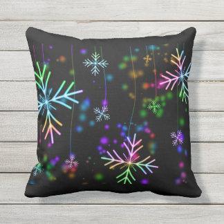 Snow Star Outdoor Pillow