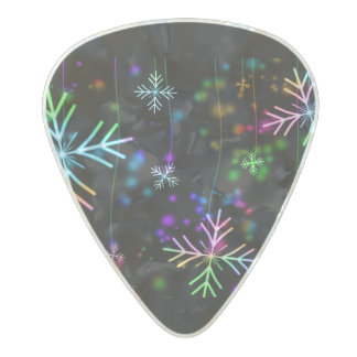 Snow Star Pearl Celluloid Guitar Pick