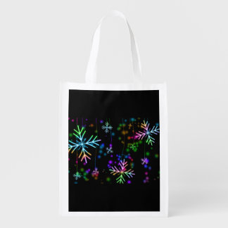Snow Star Reusable Grocery Bag