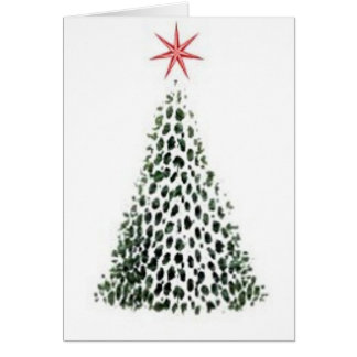 Snow Star Tree Greeting Card