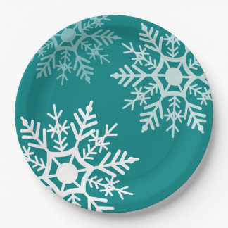 Snow Stars - Christmas - Paper Plate