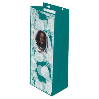 Snow Stars - White, Teal - Gift Bag