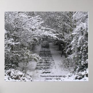 Snow steps poster