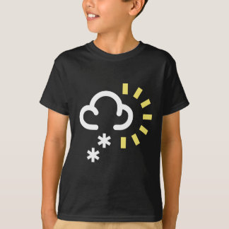 Snow Storm: Retro weather forecast symbol Shirts