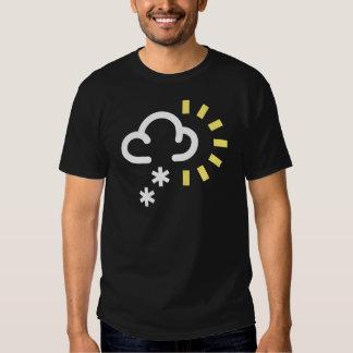 Snow Storm: Retro weather forecast symbol T Shirt