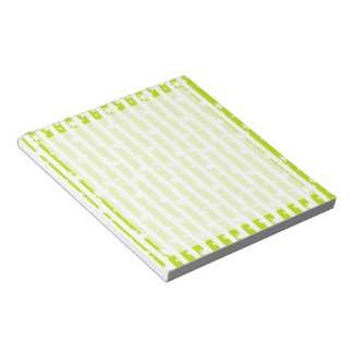 Snow Stripes Green Notepad