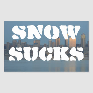 Snow sucks sticker