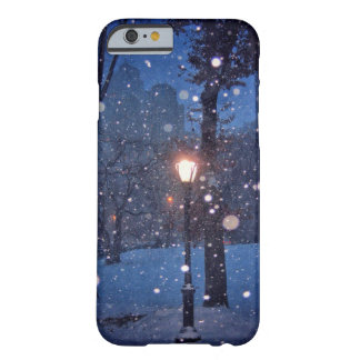 Snow Swirling Around A Streetlamp Barely There iPhone 6 Case