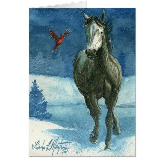 Snow Tag Blank Card