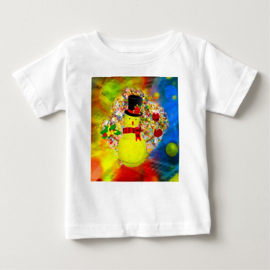 Snow tennis ball man in a cloud of confetti baby T-Shirt