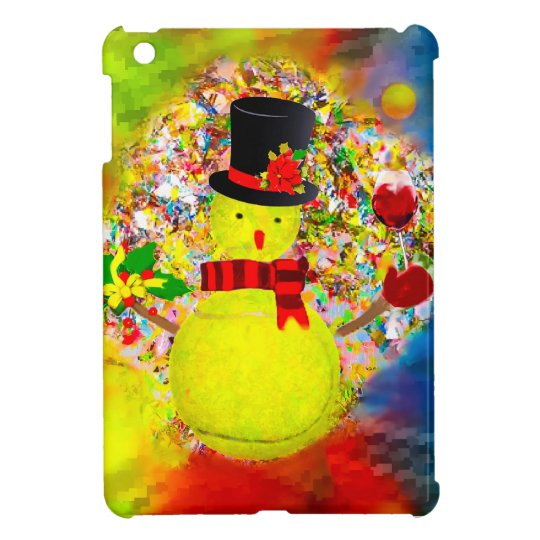 Snow tennis ball man in a cloud of confetti iPad mini covers