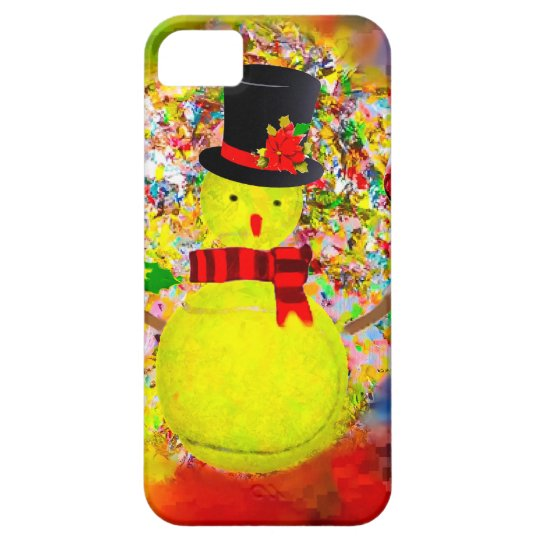 Snow tennis ball man in a cloud of confetti iPhone 5 covers