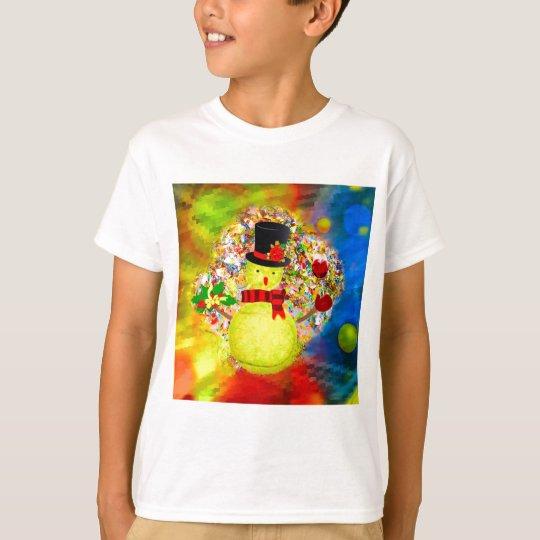 Snow tennis ball man in a cloud of confetti T-Shirt