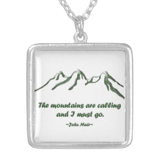 Snow tipped mtns are calling ... J Muir Silver Plated Necklace