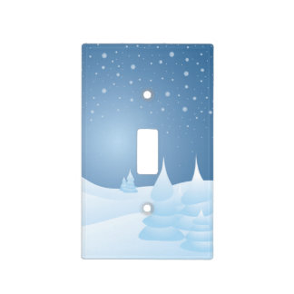 Snow Tipped Trees Light Switch Cover