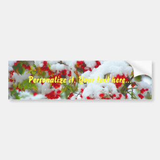 Snow toppings - colorful bumper sticker