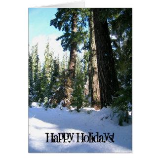 Snow Trail Greeting Card