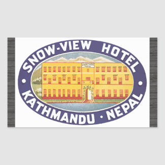 Snow-View Hotel Kathmandu Nepal, Vintage Sticker