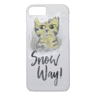 Snow Way Painted Cat Slogan Case-Mate iPhone Case