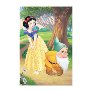 Snow White And Bashful Canvas Print