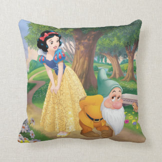 Snow White And Bashful Throw Pillow