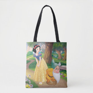 Snow White And Bashful Tote Bag