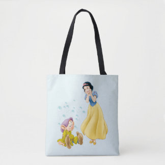Snow White and Dopey Bubbles Tote Bag