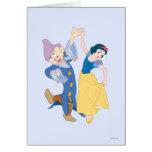 Snow White and Dopey dancing Greeting Card