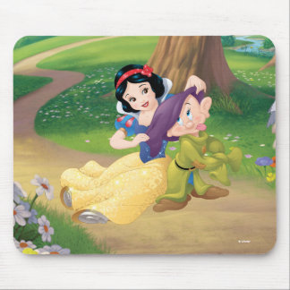 Snow White And Dopey Mouse Pad