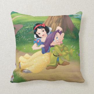 Snow White And Dopey Throw Pillow