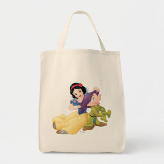 Snow White And Dopey Tote Bag