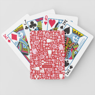 Snow White and Friends Pattern | Add Your Name Bicycle Playing Cards