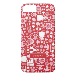 Snow White and Friends Pattern   Add Your Name iPhone 8/7 Case