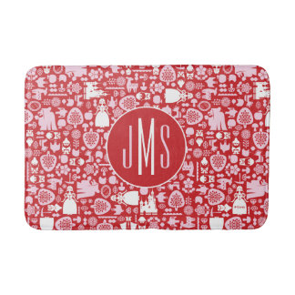 Snow White and Friends Pattern | Monogram Bath Mat