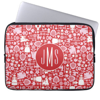 Snow White and Friends Pattern | Monogram Laptop Sleeve
