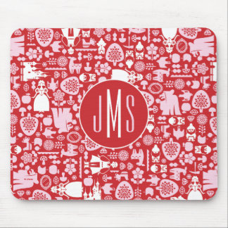 Snow White and Friends Pattern | Monogram Mouse Pad
