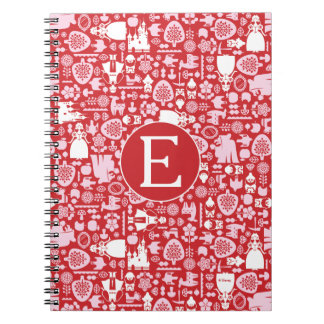 Snow White and Friends Pattern   Monogram Notebooks