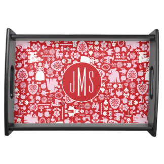 Snow White and Friends Pattern | Monogram Serving Tray