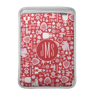Snow White and Friends Pattern | Monogram Sleeve For MacBook Air