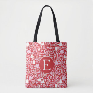 Snow White and Friends Pattern | Monogram Tote Bag