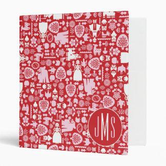 Snow White and Friends Pattern | Monogram Vinyl Binder