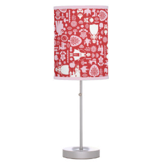 Snow White and Friends Pattern Table Lamp
